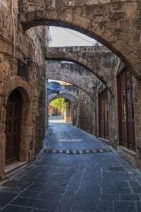 Street in medieval town